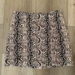Free people snake print skirt